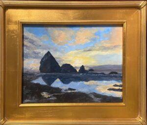 197 - Haystack Shore - 11x14 - Landscape - $350