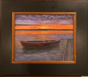 203 - Lake Monroe Sunset - 11x14 - Landscape - Not Available - $600