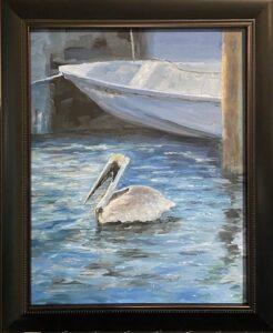 204 - Key West Pelican - 11x14 - Landscape - $325