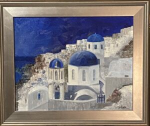 208 - Santorini - 16x20 - Landscape - $450