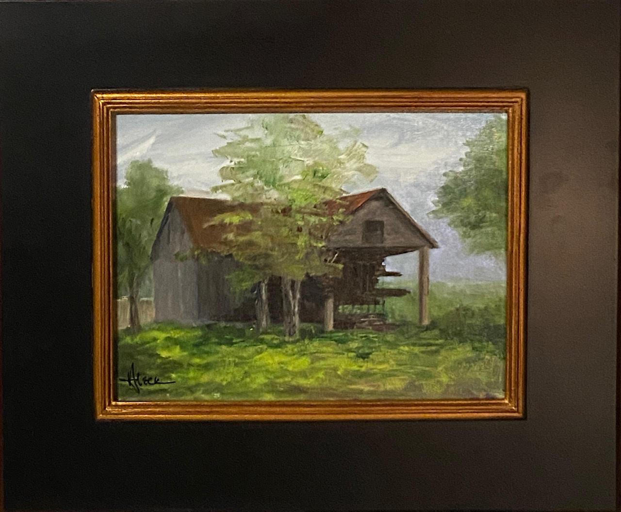 209 - Weathered Shed - 9x12 - Landscape - $250