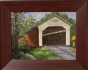 210 - Covered Bridge - 12 x 16 - Landscape - $375