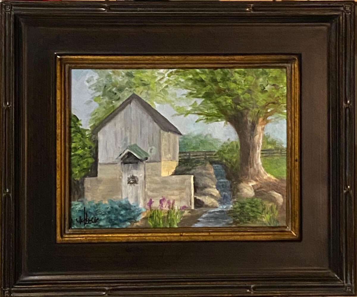212 - Morning at the Well House - 9 x 12 - Landscape - $225