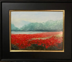 213 - Poppies in the Mist - 12 x 16 - Landscape - $475