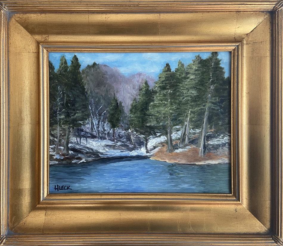 106 - Brown County Lake - 11 x 14 - Landscape - $125