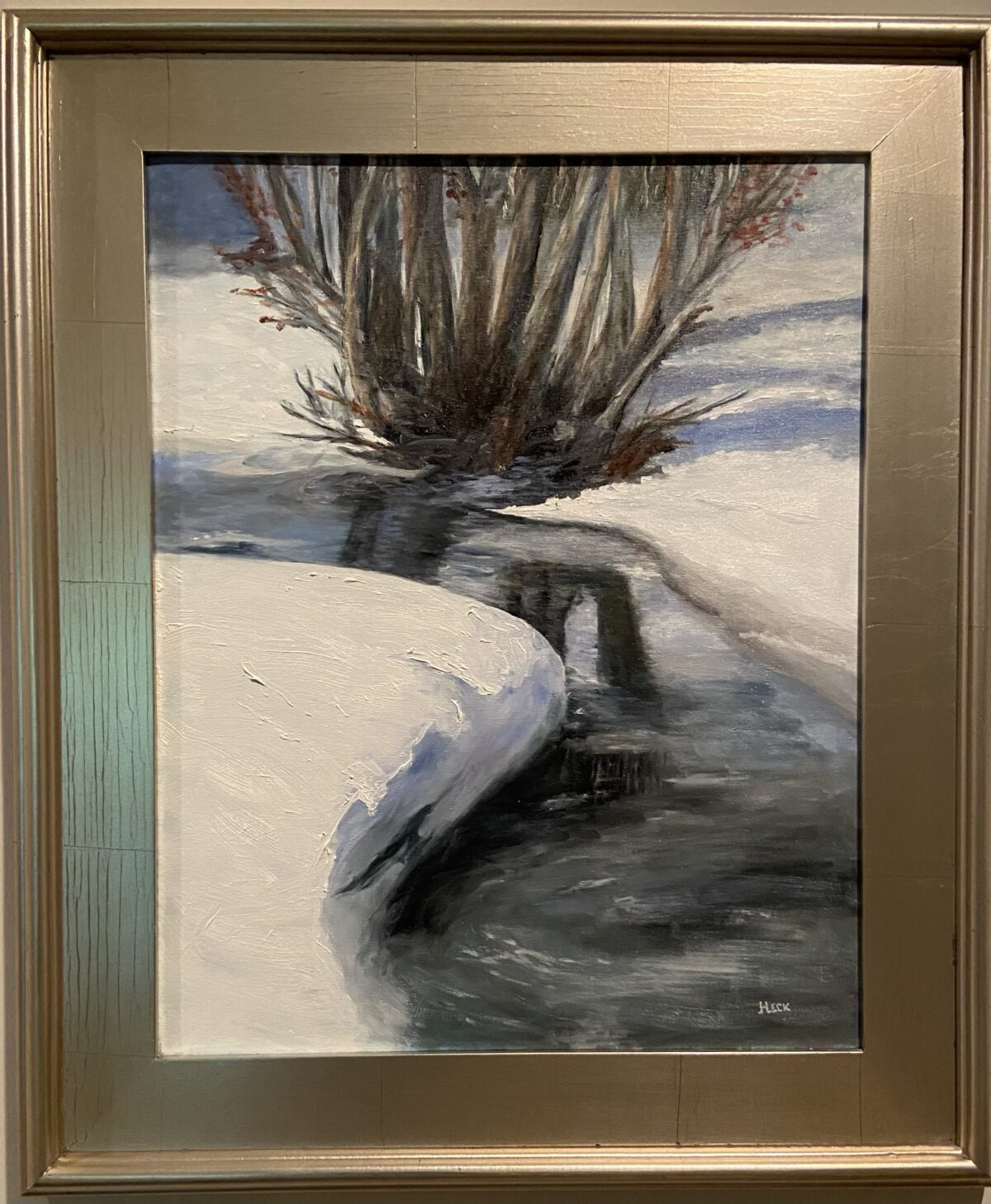 109 - Winter Creek - 16 x 20 - Landscape - $125