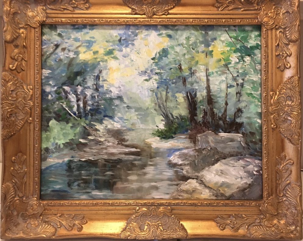 113 - Afternoon at the Creek after Will Vawter - 16 x 20 - Landscape - Not Available