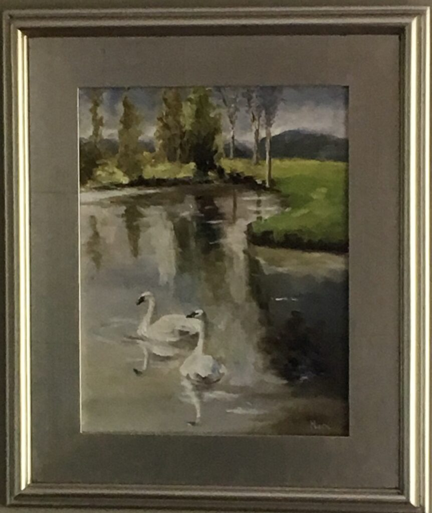114 - Afternoon of a Swan - 11 x 14 - Landscape - Not Available - $125