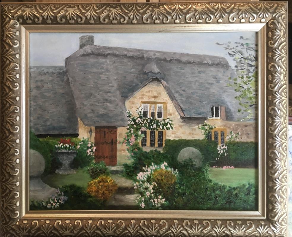 115 - Cotswolds Cottage - 11 x 14 - Architecture - $250