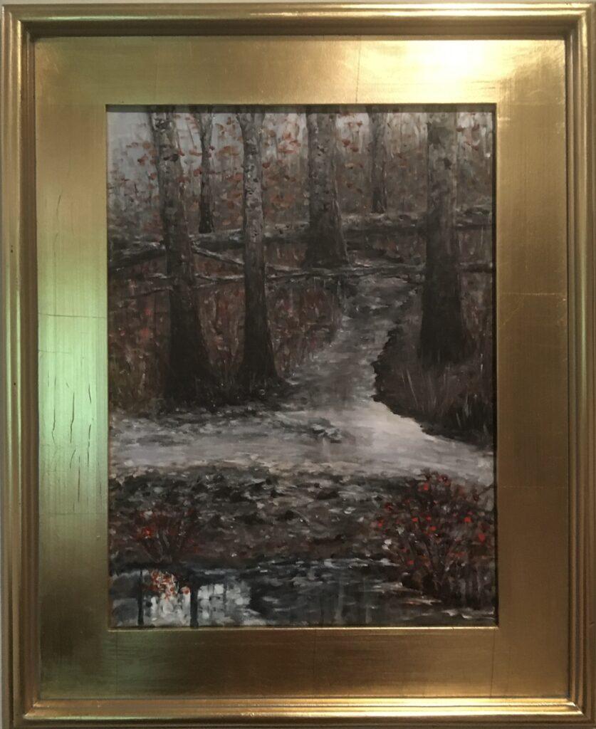 116 - Winter at Jackson Creek - 11 x 14 - Landscape - $100