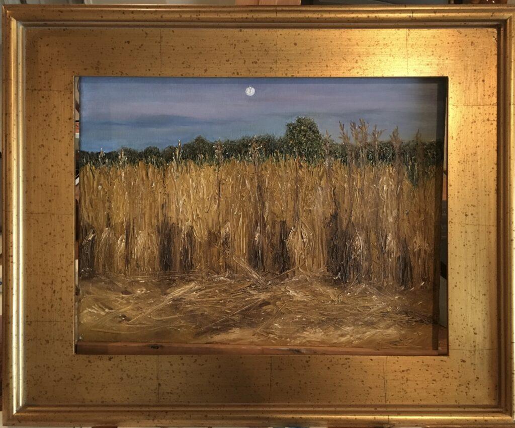123 - Evening Cornfield - 12 x 16 - Landscape - $100