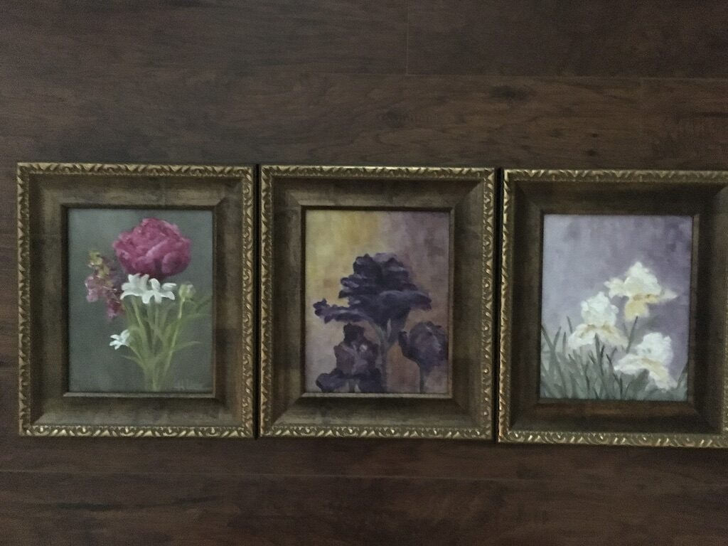 125 - Three Florals - each 10 x 8 - Still Life - $150 🔴