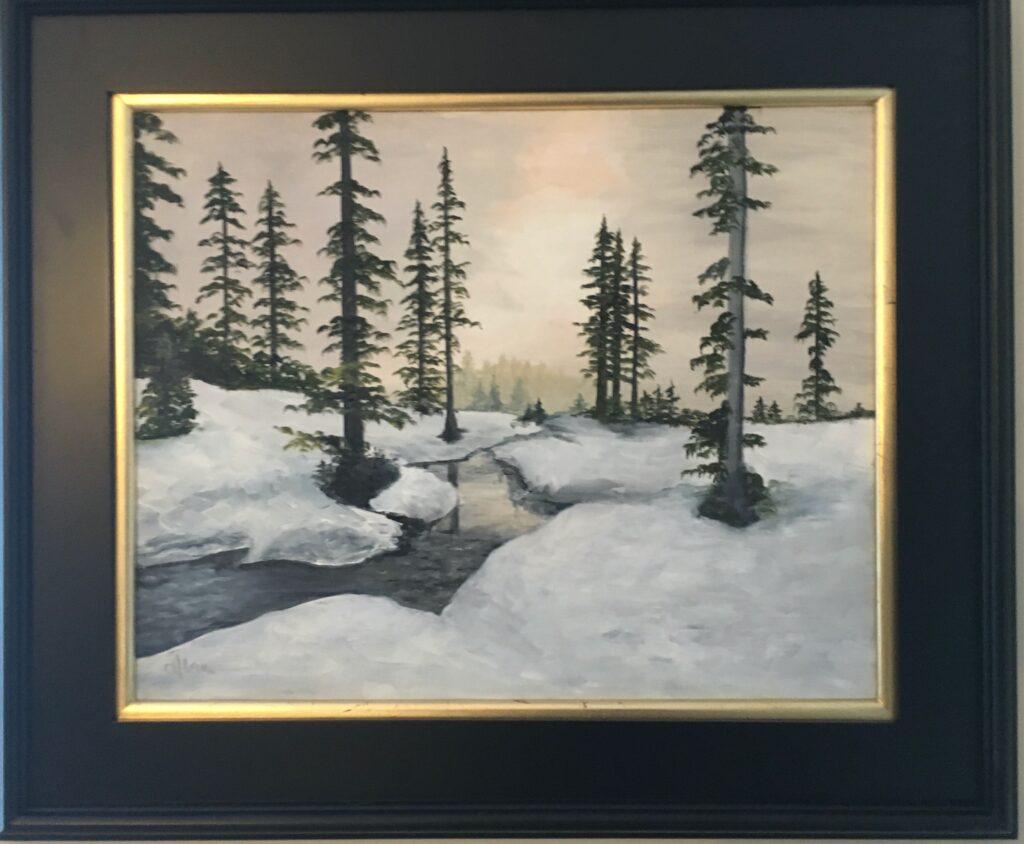 128 - Silent Afternoon - 16 x 20 - Landscape - $275