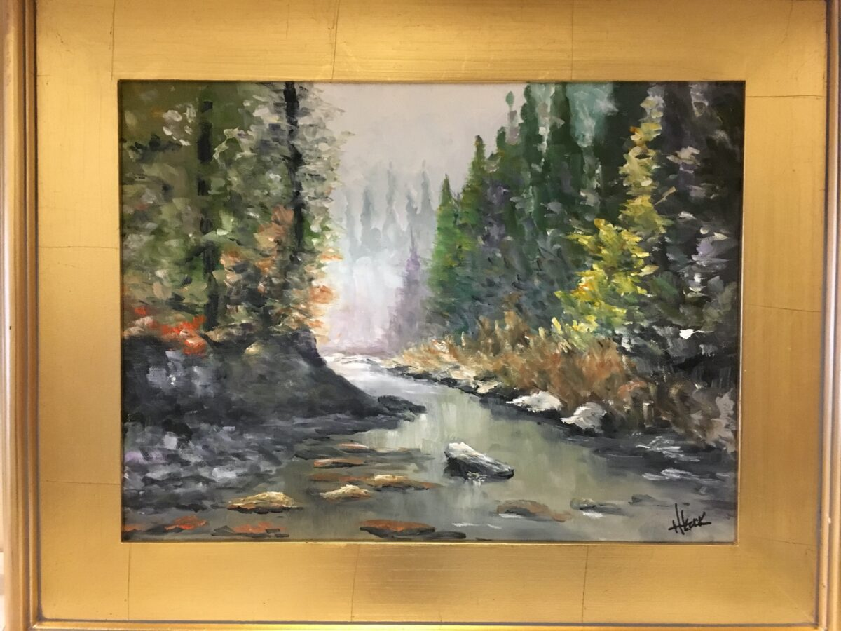 131 - Woodland Stream after Rudolech - 11 X14 - Landscape - Not Available - $250