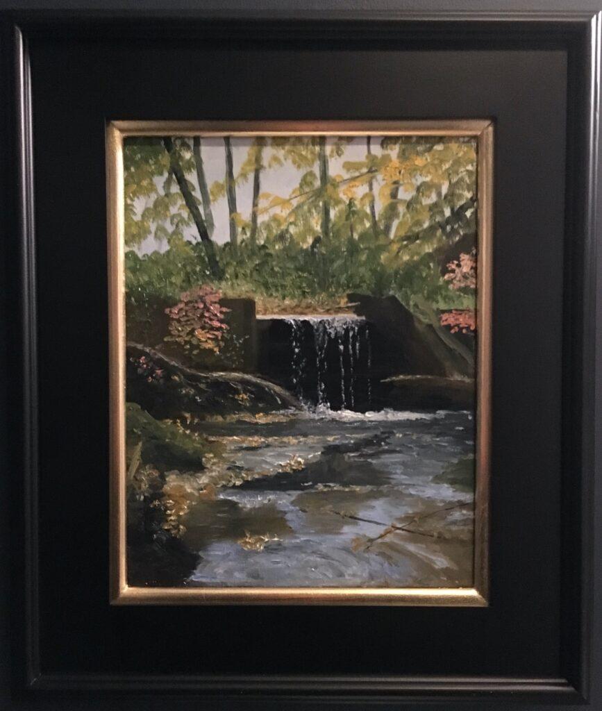 133 - Jackson Creek Dam - 11 x 14 - Landscape - $425 - Not Available