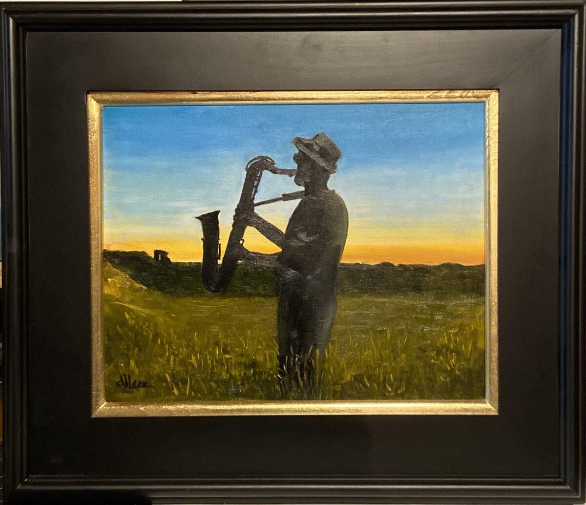 134 - Blues in the Night - 11 x 14 - Portrait - $100