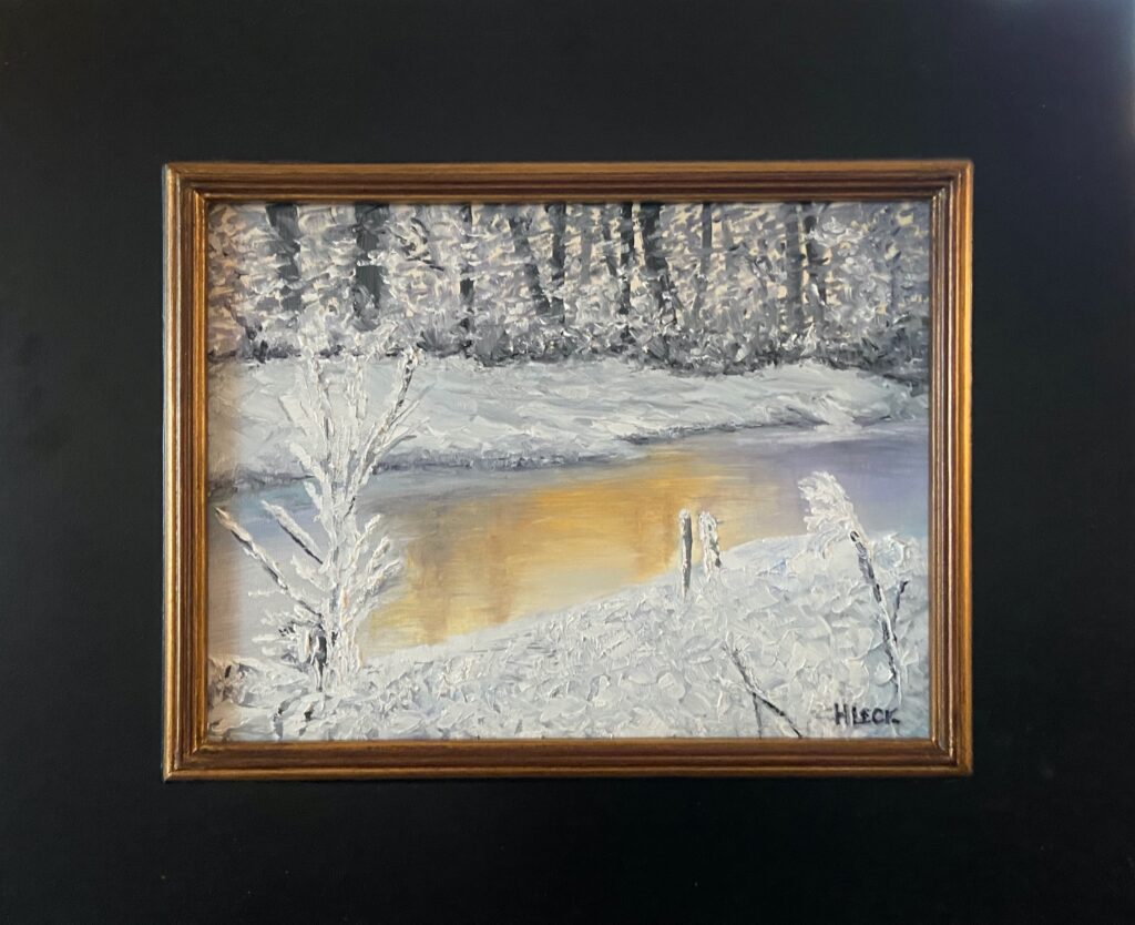 136 - Winter Glaze - 9 x 12 - Landscape - $450