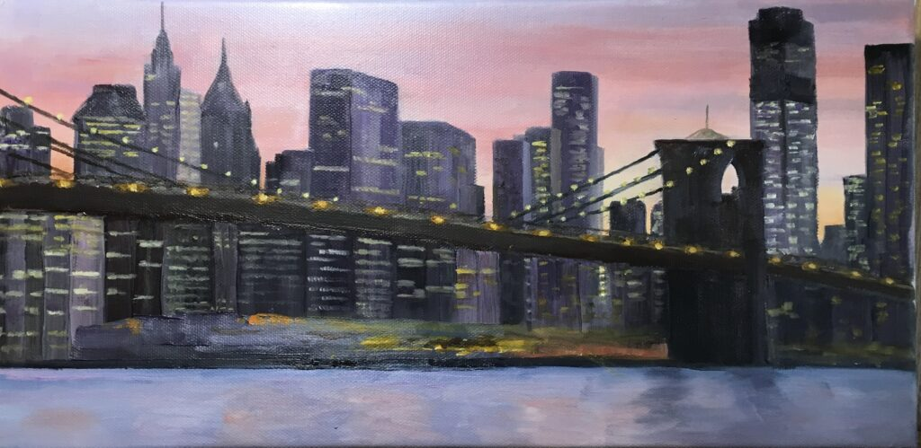 139 - New York Skyline - 12 X 8 - Landscape - $250 - Not Available