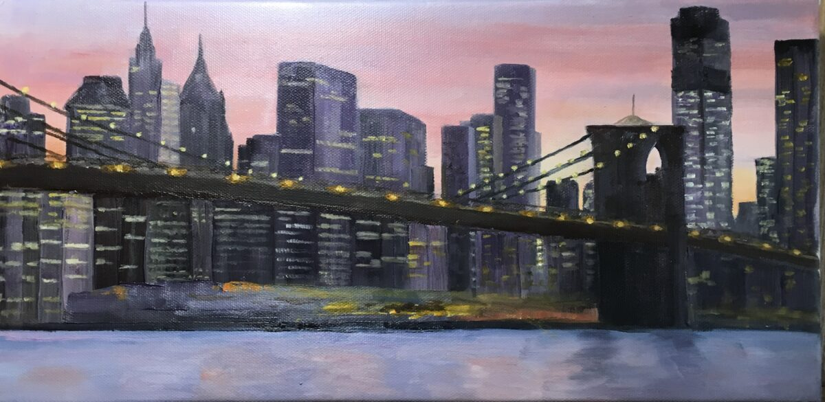 139 - New York Skyline - 12 X 8 - Landscape - Not Available - $250