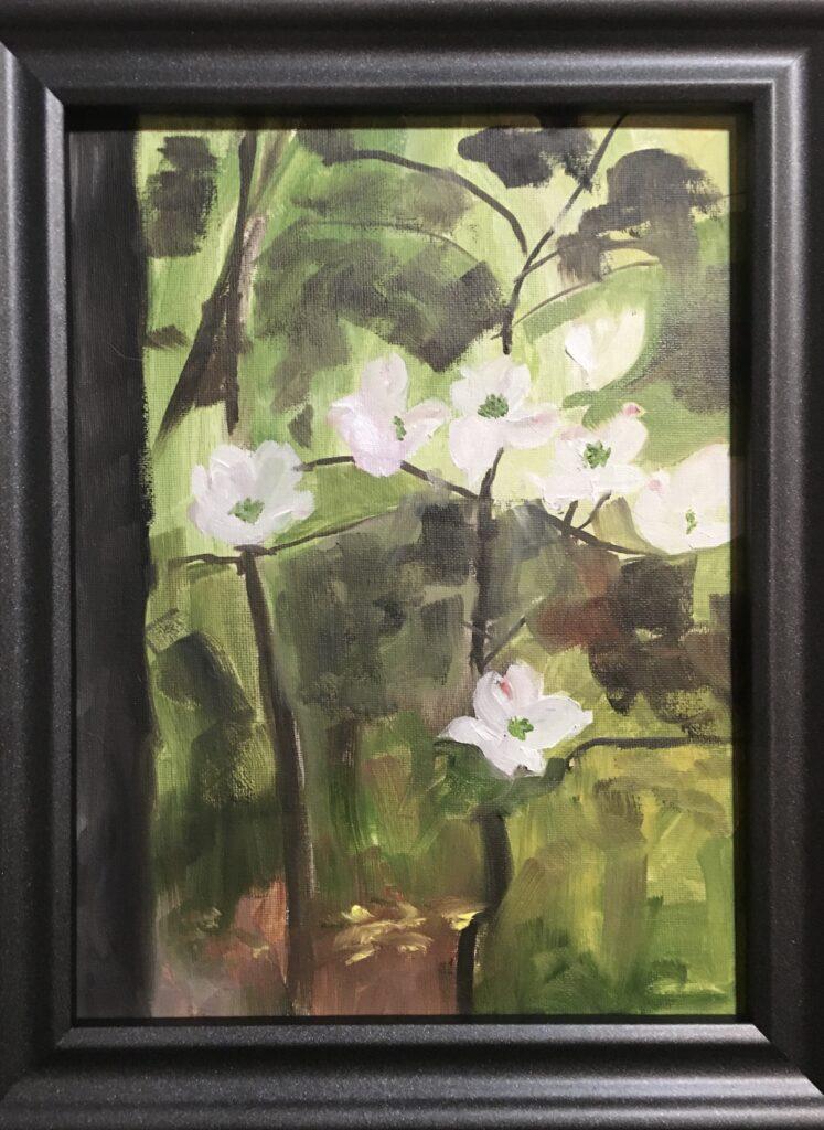 141 - Indiana Dogwoods - 9 x 12 - Landscape - $90 🔴
