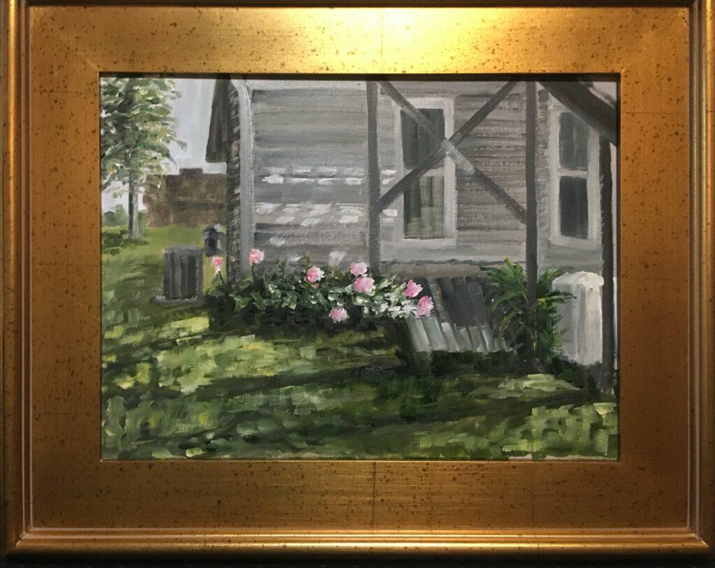 144 - Farmhouse Morning - 12 x 16 - Architecture - $175