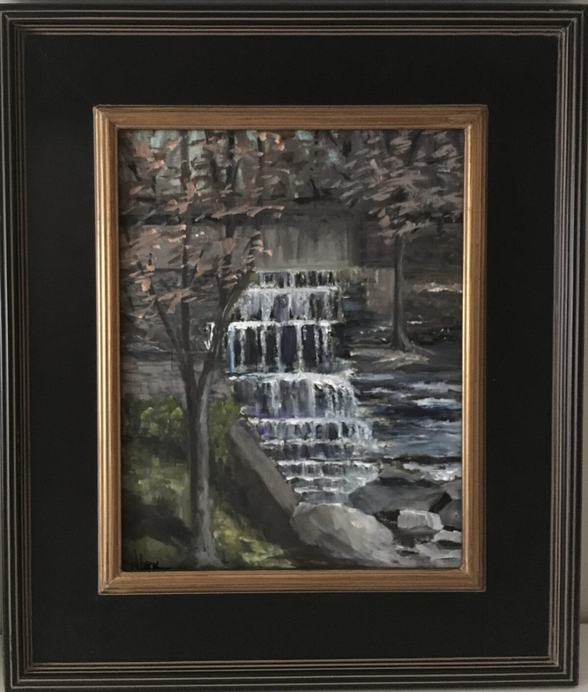 146 - Strahl Lake Falls - 11 x 14 - Landscape - Not Available - $400
