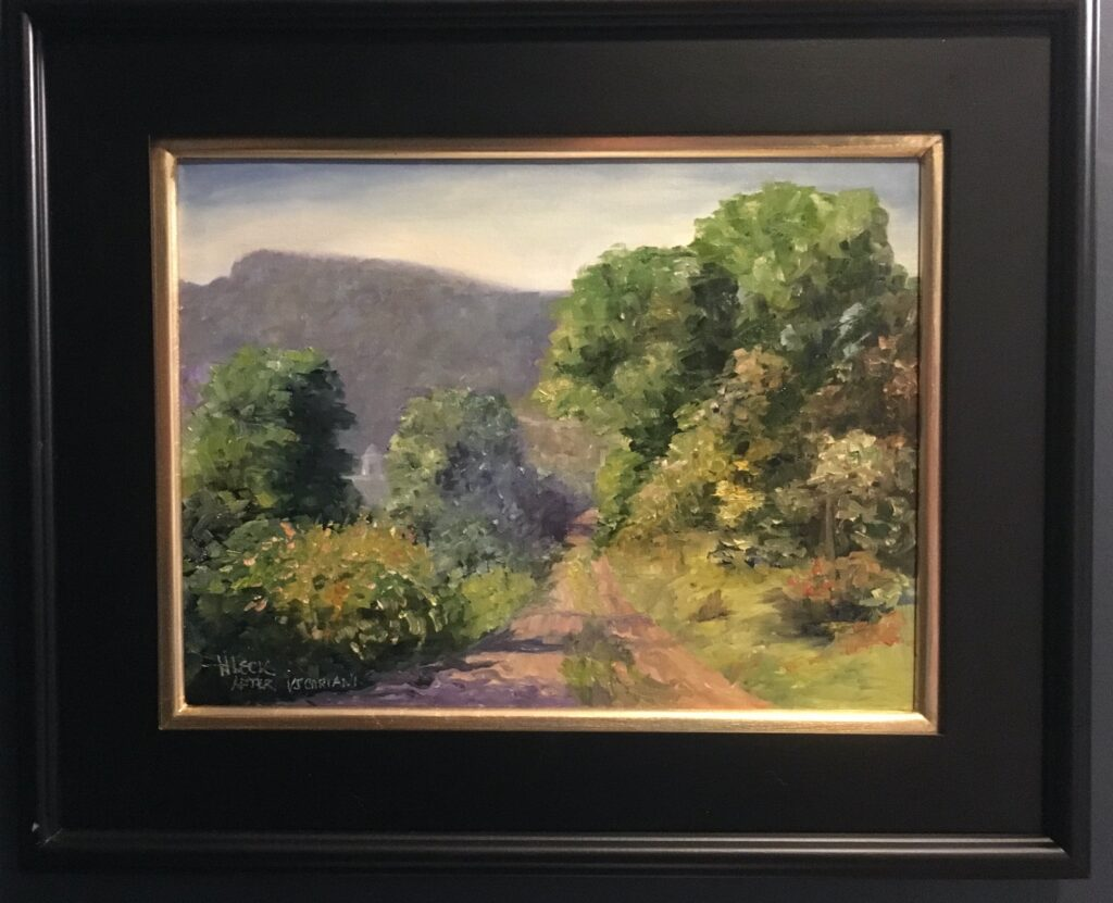 148 - Road to Peaceful Valley after VJ Cariani - 16 x 20 - Landscape - $425 - Not Available