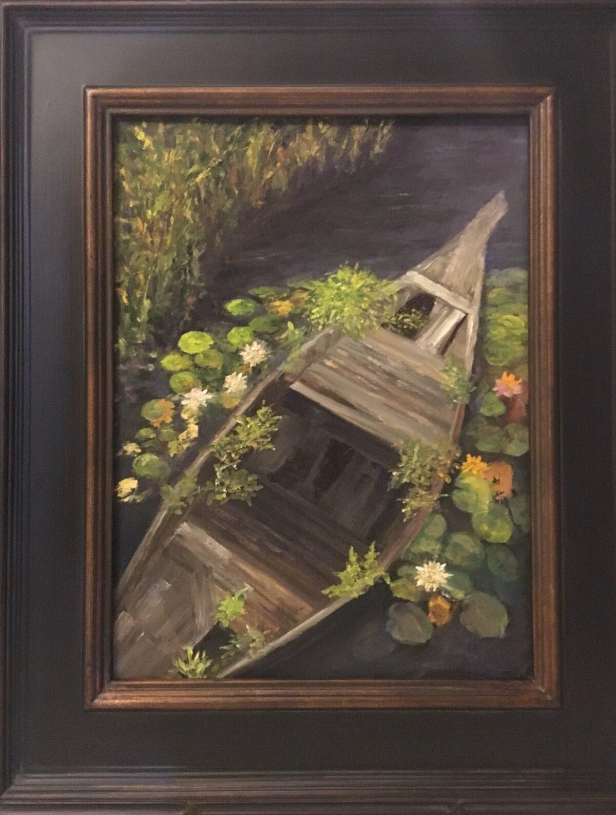 149 - Siem Reap Boat - 12 x 16 - Still Life - $325