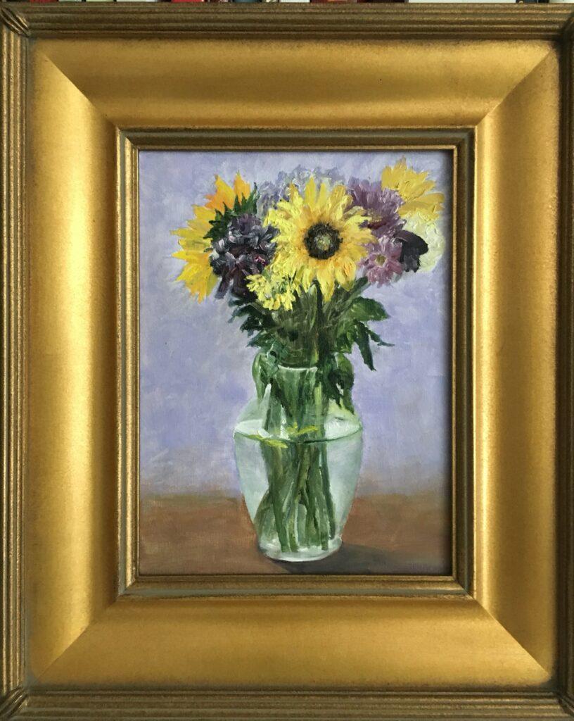 152 - Sunflower Bouquet - 12 x 9 - Still Life - $0 -  🔴