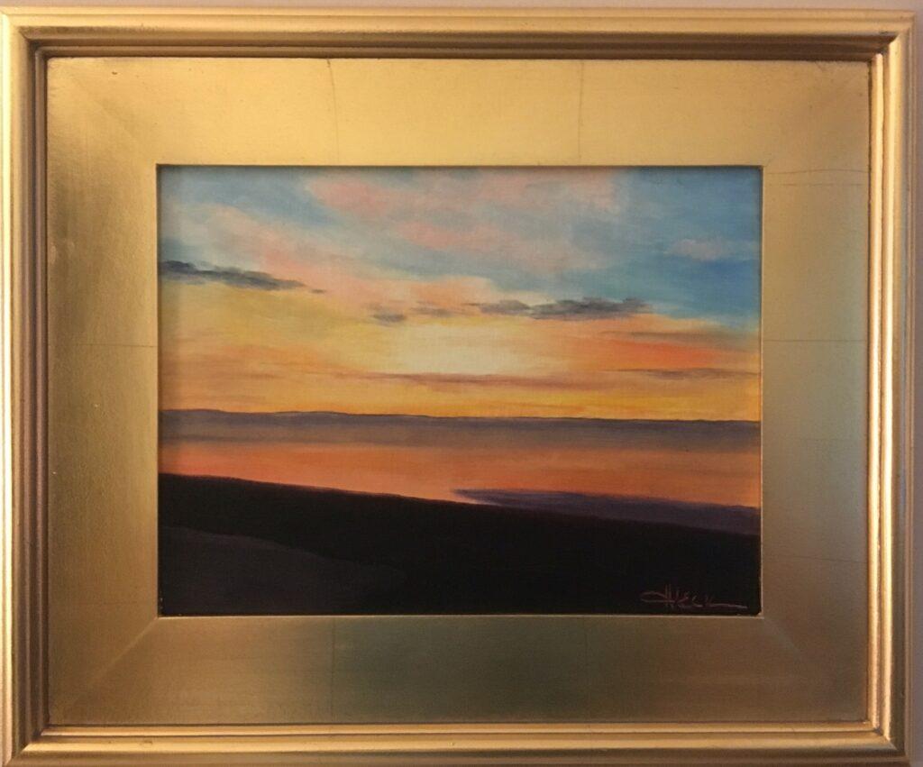 153 - Sunset - 11  x 14 - Landscape - $125 - 🔴