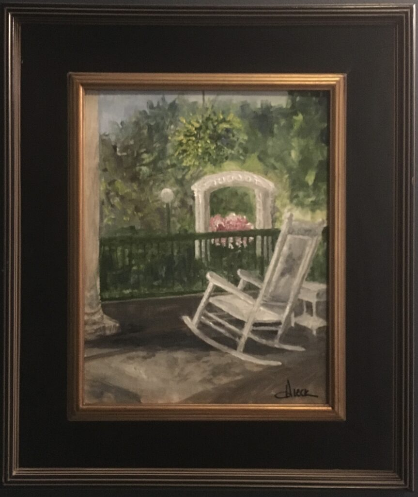 155 - West Baden Rocker - 14 x 11 - Still Life - $150