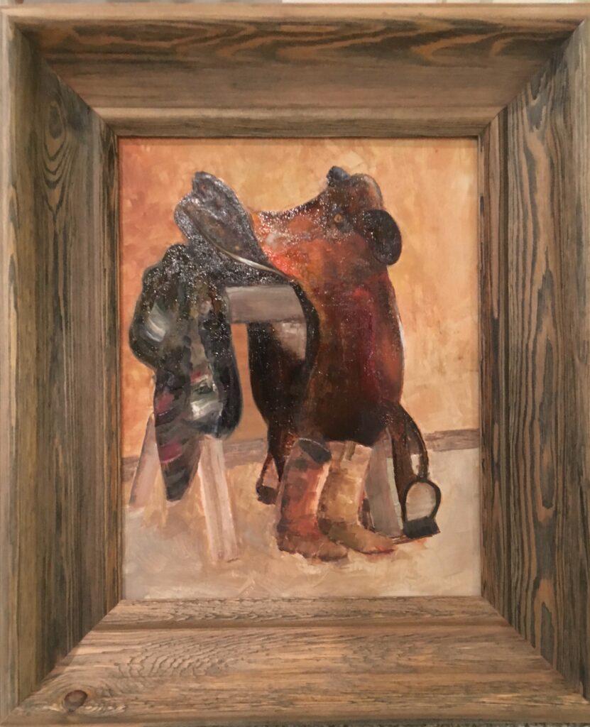 157 - Babette's Saddle - 11 x 14 - Still Life - $125