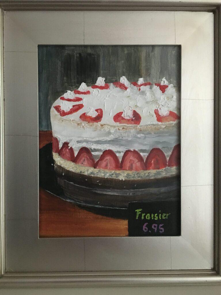 160 - La vie en rose Fraisier - 12 x 9 - Still Life - $375 - Not Available