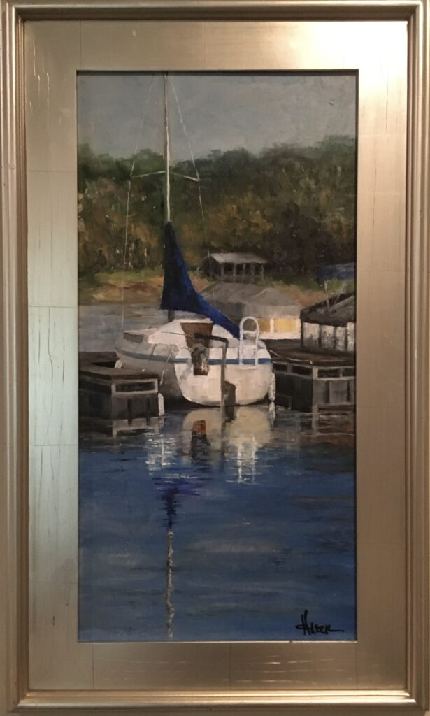 165 - Lake Monroe Slip - Blue - 24 x 12 - Landscape - $1400 - Not Available