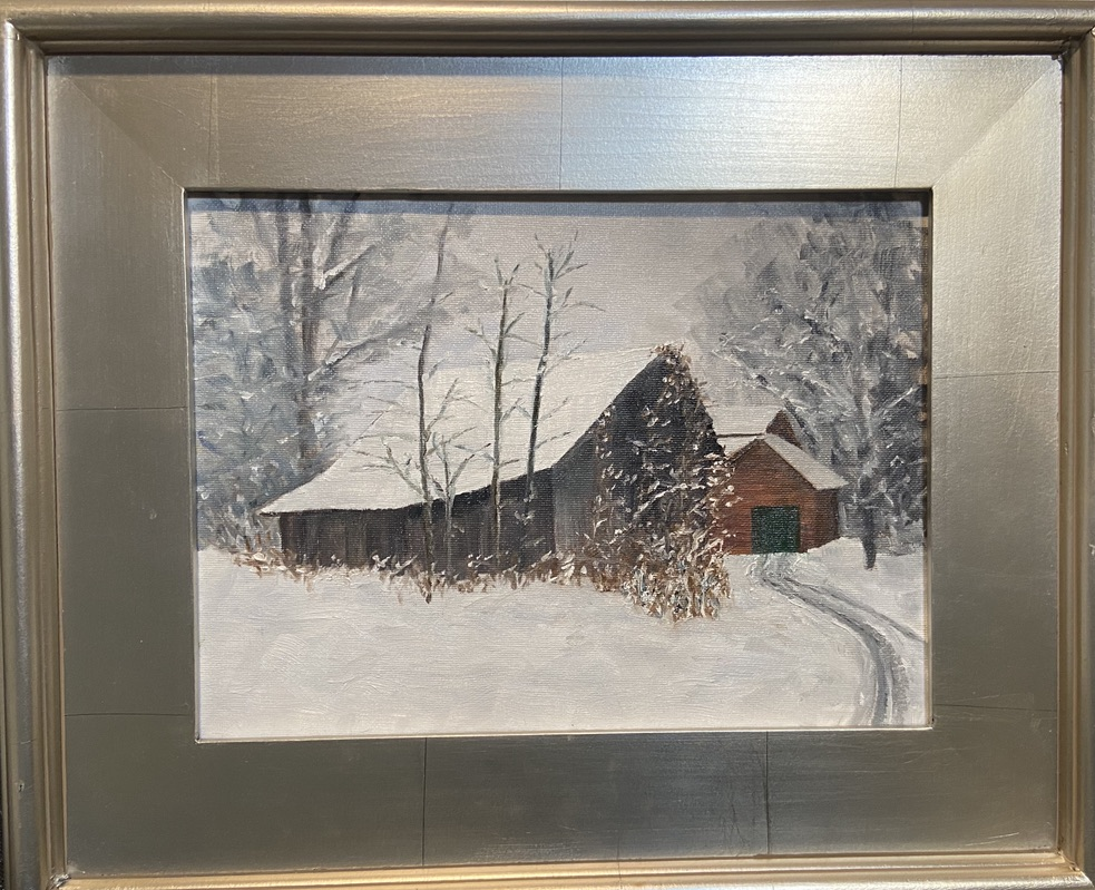 169 - Mt. Gilead Barn - 9 x 12 - Architecture - $375 - Not Available