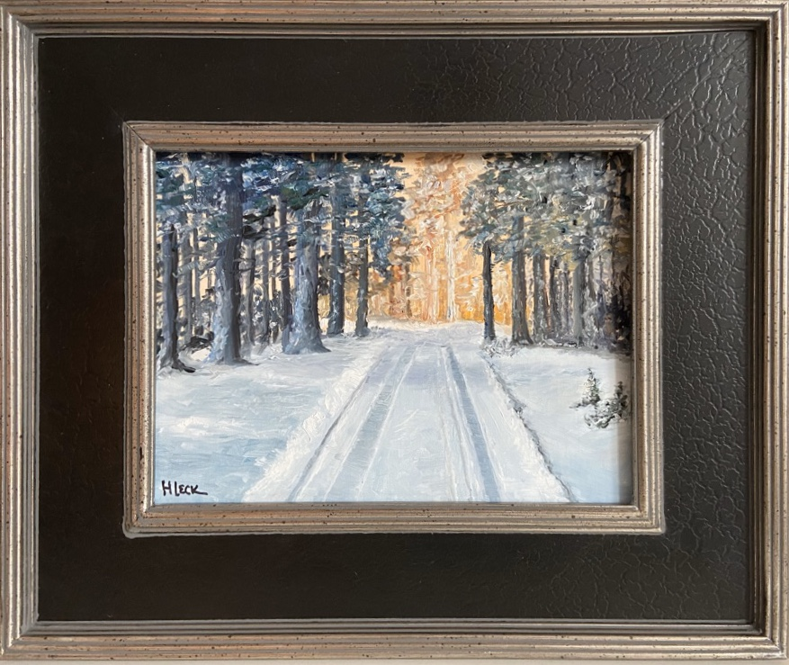 170 - Snowy Road - 9 x 12 - Landscape - 🔴 SOLD