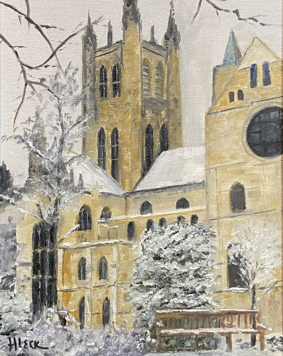 171 - Canterbury in Winter - 11 x 14 - Architecture - $325 - Not Available