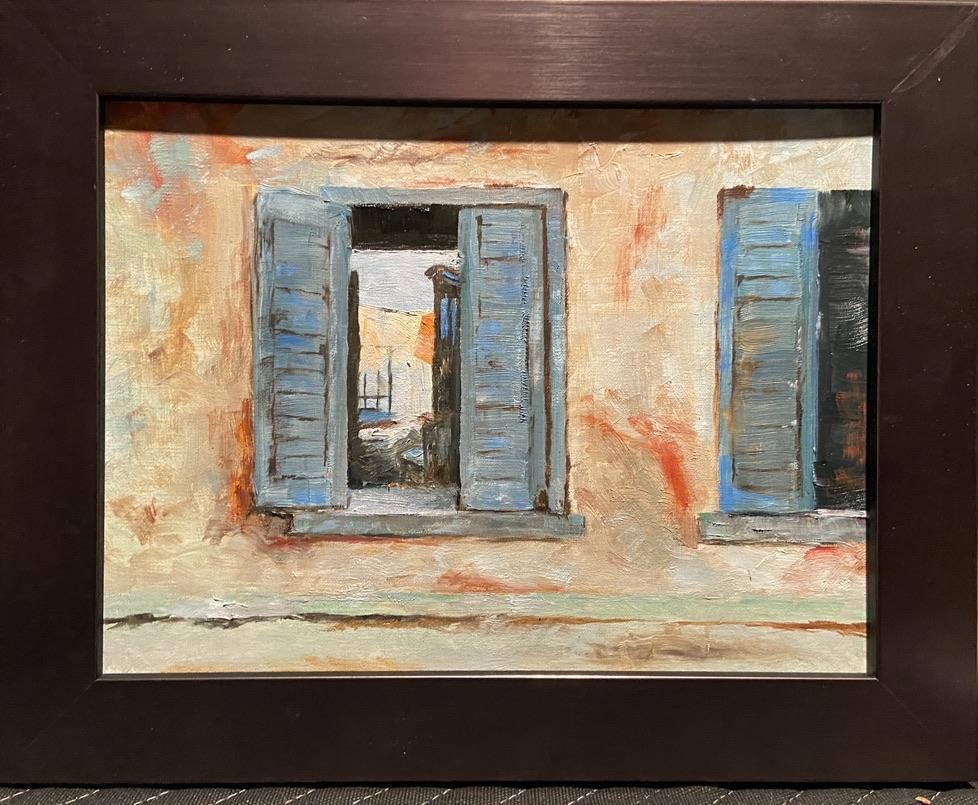 181 - Through the Open Window after S. Bongart - 9 x 12 - Still Life - $350