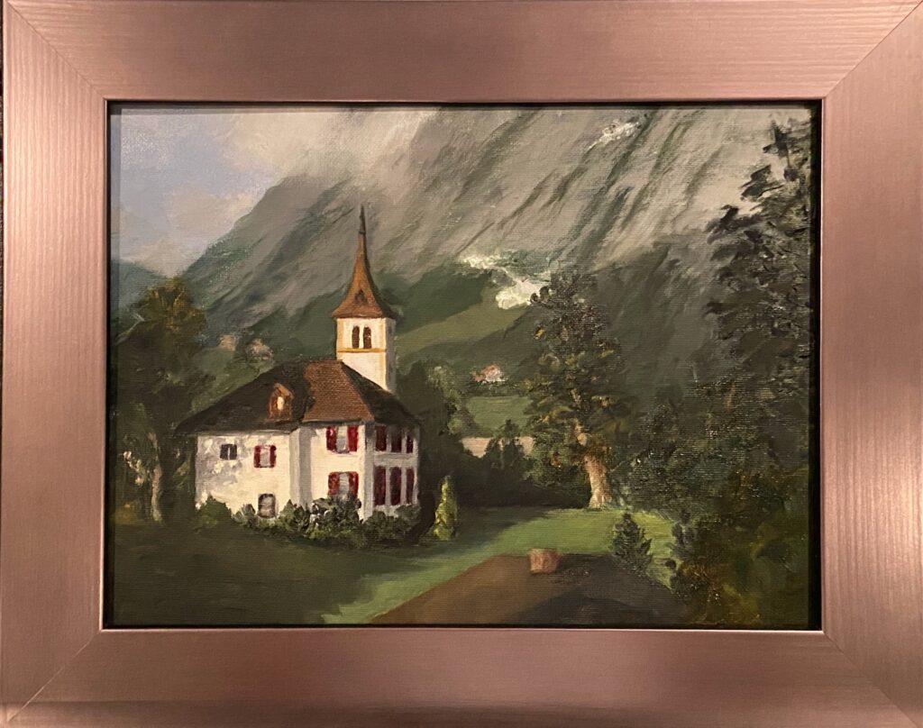 185 - Swiss Bliss - 9 x 12 - Landscape - $250