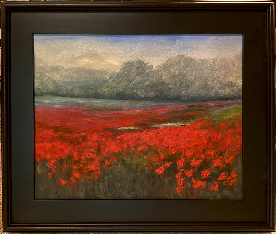 186 - Where the Poppies Grow - 16 X 20 - Landscape - $525