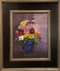 189 - Market Bouquet in Blue Vase - 2 - 11 x 14 - Still Life - $300