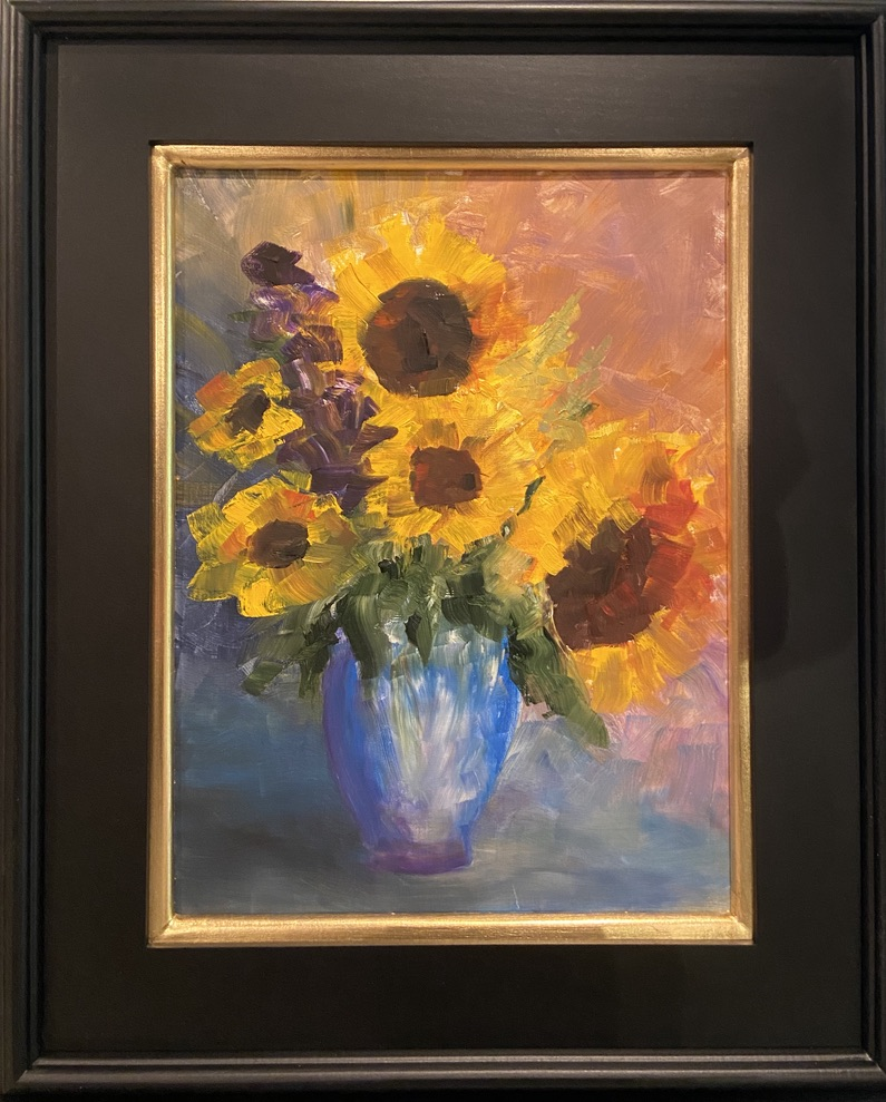 Sunflower Bouquet -1 - 12 x 16 - Still Life - $850