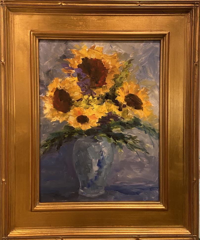 Sunflower Bouquet -2 - 12 x 16  - Still Life - $350