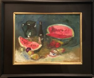 Watermelon Still Life after S. Bongart - 12 x 16 - Still Life - $500