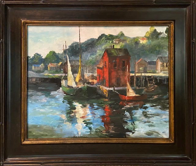 Harbor Scene after C Curry Bohm - 16 X 20 - Landscape - $500